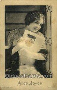 Alice Joyce Opera 1914 some corner wear, little chip on bottom left edge, yel...
