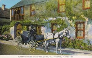 Florida St Augustine Horse and Buggy At Oldest House In The United States