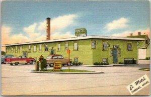 Hibbing, Minnesota Postcard EL MOTEL COURT Cabins Highway 169 Roadside Linen