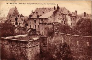 CPA AK NANTES - Les murs d'enceinte et la Chapelle du Chateau (650504)