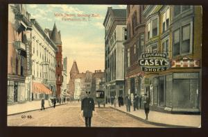 Pawtucket, Rhode Island/RI Postcard, Main Street Looking East