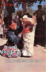 Navajo Woman with Cradle Board & Baby  Postcard Post Cards unused