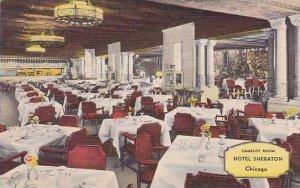 Illinois Chicago Hotel Sheraton Camelot Room 1954 Curteich