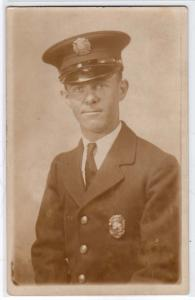RPPC, Fireman in Uniform
