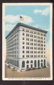 ALBUQUERQUE NEW MEXICO FIRST NATIONAL BANK VINTAGE POSTCARD NM