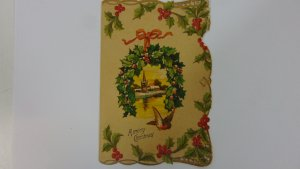 Antique 1900 Christmas Card A Merry Christmas