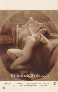 The Chain Round the Neck Nude Postcard Artist E. Tabary Unused
