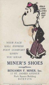 BOSTON, Mass. , 1900-10s; Miner'S Shoe Company, Novelty Wire Nose
