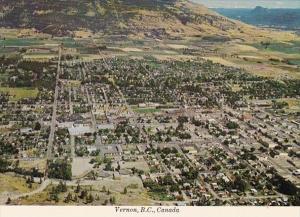 Canada British Columbia Vernon Aerial View