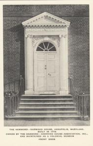ANNAPOLIS, Maryland, 00-10s; The Hammond - Harwood House
