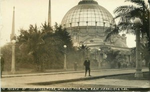 1915 Palace Horticulture World's Fair San Francisco California RPPC Photo 9854