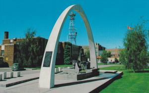 City Hall with Irrigation Monument,  Lethbridge,  Alberta,  Canada,  40-60s