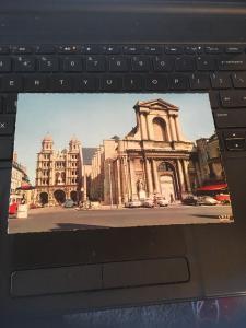 Vintage Postcard: Dijon,La Bourse De Commerce, Et Leglise, France
