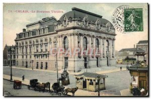 Old Postcard New Theater Calais