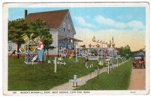 West Dennis, Cape Cod, Mass, Baker's Windmill Shop