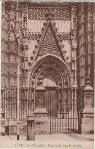 Puerta de San Cristobal, Catedral, Sevilla, Andalucia, Spain