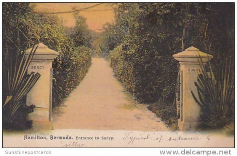 Bermuda Hamilton Entrance To Soney