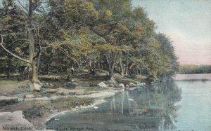 NORWICH , Connecticut , 1909 ; West Bank of Lake, Mohegan Park