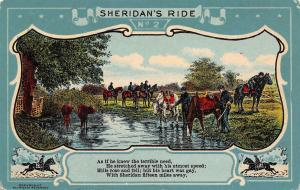 Civil War General Philip Sheridan's Ride #2~TB Read's Poem~Art Nouveau~1910 PC