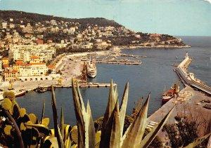 France Nice Sortie du Port Embarquement Pour la Corse Boat Panorama Postcard