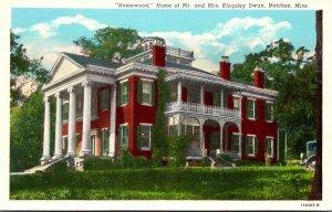 Mississippi Natchez Homewood Home Of Mr and Mrs Kingsley Swan Curteich