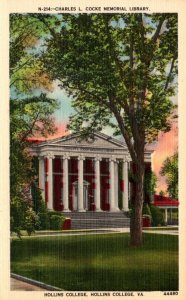 Virginia Hollins College Charles L Cocke Memorial Library