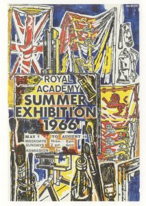 John Bratby Royal Academy Of Arts 1966 Painting Exhibition Postcard
