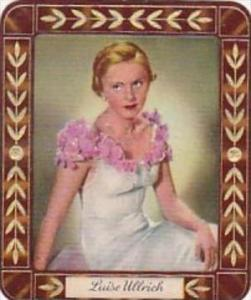 Garbaty Cigarette Card 1934 Modern Beauties No 112 Luise Ullrich