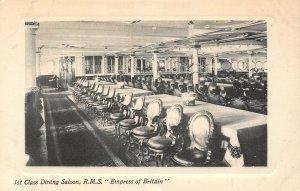 LP68   Ship R.M.S. Empress Britain Vintage Postcard 1st Class Dining Saloon