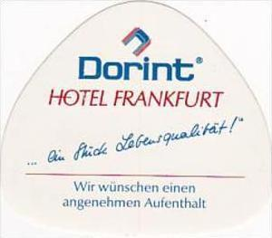 GERMANY FRANKFURT DORINT HOTEL VINTAGE LUGGAGE LABEL