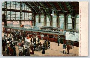 Charlestown MA~Disorderly Conduct Prohibited~Sullivan Sq Elevated Station~c1910