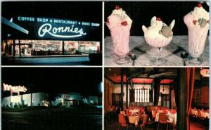 ORLANDO, FL    RONNIE'S COFFEE SHOP  Neon  c1960s   Roadside Multiview Postcard