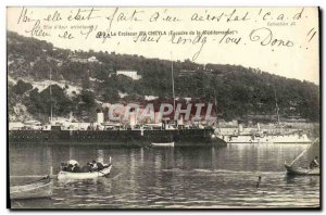 Old Postcard Boat War Of The Cruiser Cheyla Wing Mediterranee