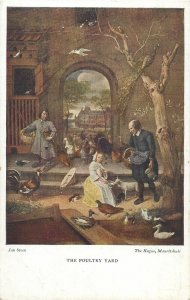 Postcard The Poultry Yard painting by jan Steen