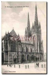 Old Postcard Quimper La Cathedrale North Coast