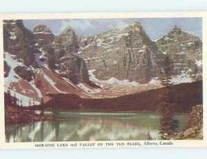 Unused Pre-1980 LAKE SCENE Moraine Lake - Banff National Park Alberta AB F3371