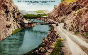CO - Rocky Mountains National Park. Junction of Fort Collins-Loveland Auto Ro...