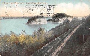 Tennessee Train Postcard Along the Frisco-St. Louis Memphis Line 1916
