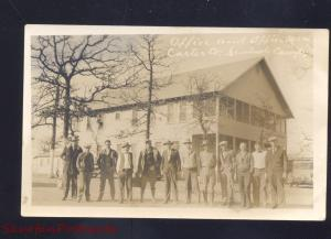 RPPC SEMINOLE CAMP OKLAHOMA CARTER OIL COMPANY WORKERS REAL PHOTO POSTCARD