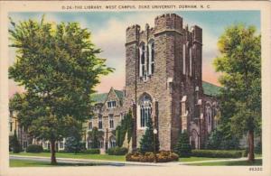 North Carolina Durham The Library West Campus Duke University