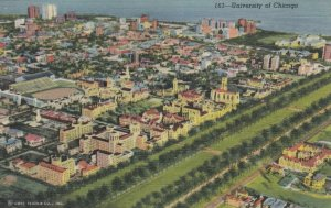CHICAGO , Illinois , 1930-40s ; Bird's Eye View of University of Chicago