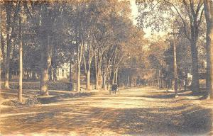 Waterville ME Silver Street in 1907 Charles Townsend Real Photo Postcard
