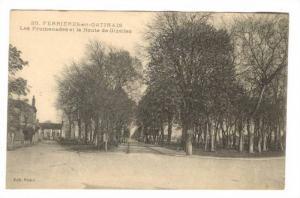 Les Promenades Et La Route De Gizelles, Ferrières-en-Gâtinais (Loiret), Fra...