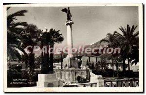 Old Postcard Menton The War Memorial