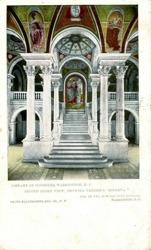 DC - Washington. Library of Congress, Vedder's Minerva