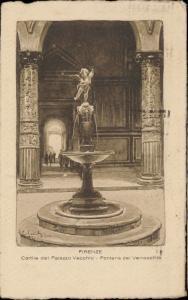 Firenze Cortile del Palazzo Vecchio Fomtana del Verrocchio Italy