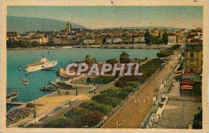 Modern Postcard Geneva Quai du Mont Blanc Les Promenades