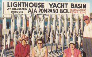 Fishing A Good Catch Lighthouse Yacht Basin At Hillsboro Birdge Pompano Beach...