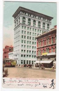 Union Savings Bank Oakland California 1907 postcard
