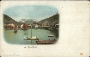 Sitka AK Harbor c1905 Postcard